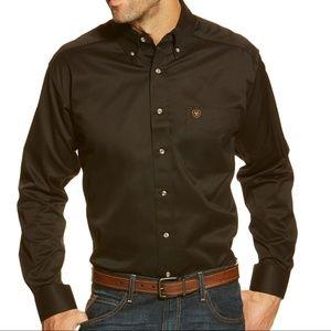 3b6f6e4e Ariat Shirts | Mens Solid Twill Shirt In Black Size Xxl | Poshmark